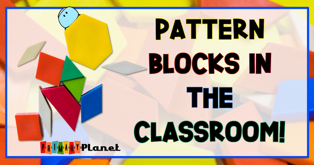 Image of pattern blocks with blog post title