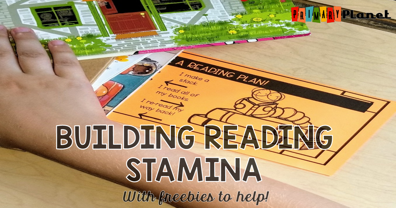 Great blog post about building Reading Stamina with a free stamina poster, a reading stamina graph, and more!