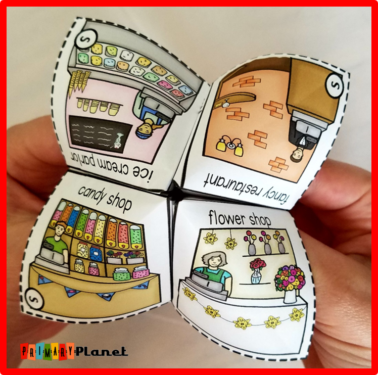 Gift idea for my students for Valentine's Day with a cootie catcher freebie!