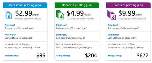 Printing in color affordable with HP Instant Ink!