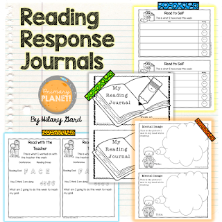 Reading Responses to go with any book!  Just print and go!  These are also made to be easily made into journals!  Included a rubric for taking grades!