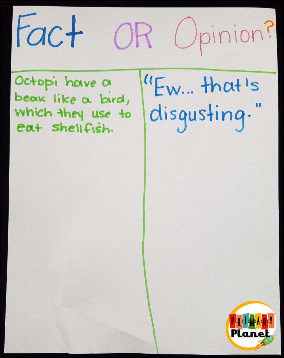 Mentor Text for teaching Fact and Opinion with a freebie!