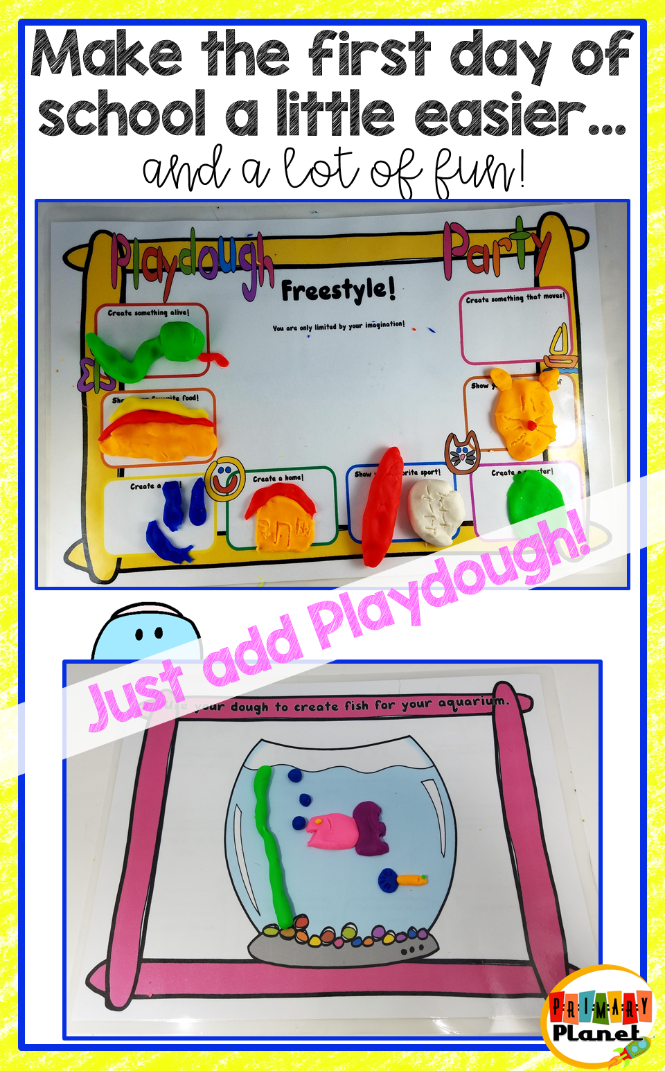 Fun, Easy, First Day of School Activity that your kiddos will love (and make your whole day a little easier!)