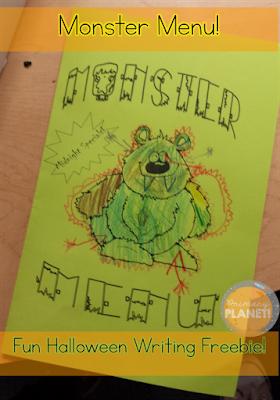 Monster Menu!  Fun, free October Poem and Writing Activity!