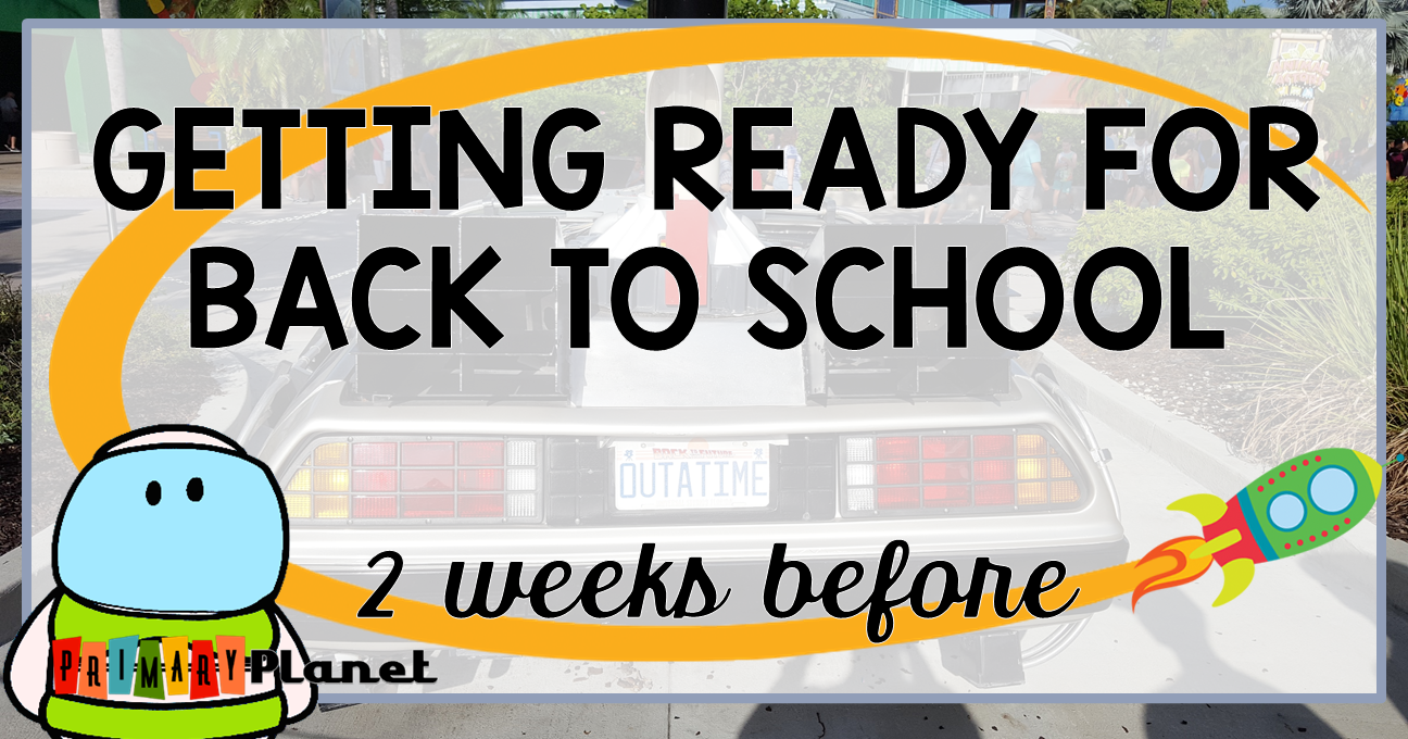 Mini-Blog Series!  Getting Ready for Back to School.  Two Weeks to go...#backtoschool #itsallaboutme