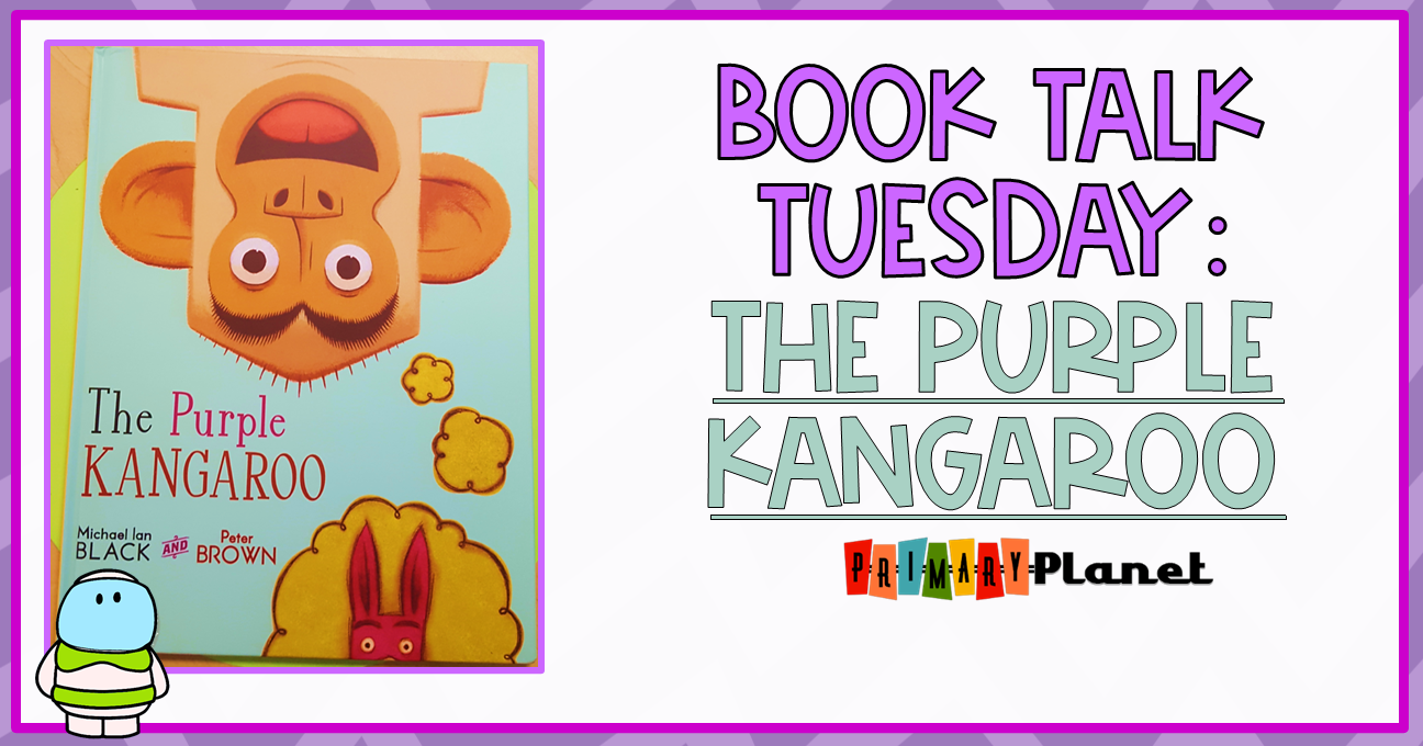 Mentor text for teaching the reading strategy of visualizing or making mental images: The Purple Kangaroo by Michael Ian Black!  Get your first, second, or third grade students thinking about their reading and visualizing with this amazing book and freebie!  #mentalimages #visualizing #mentortext #primaryplanet
