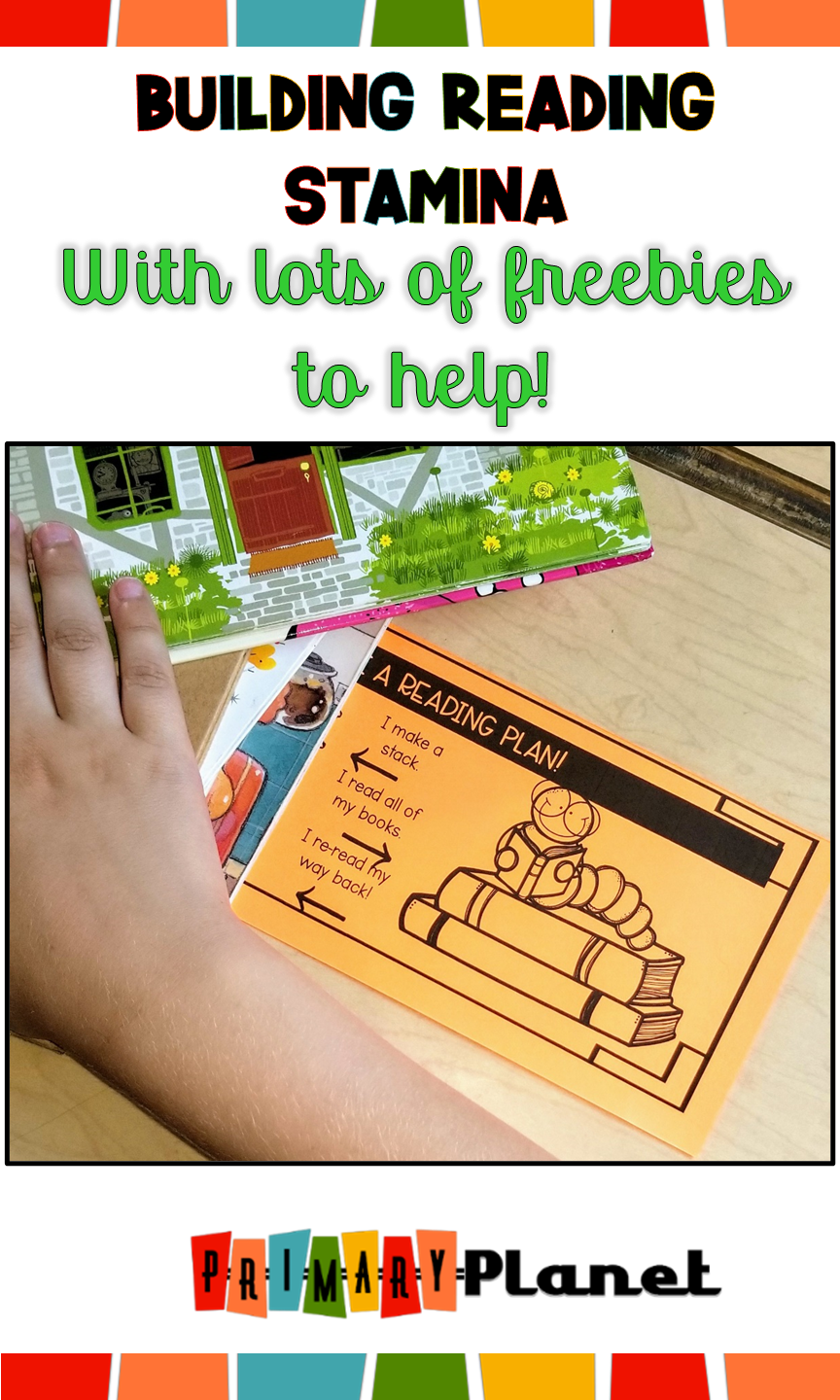 Check out my Building Reading Stamina blog post!  You can grab your freebies to help make Building Reading Stamina a little easier with your elementary students! The reading stamina freebies include Reading Stamina Poster, Stamina Graph, Stamina Reading Goal Checklist Bookmark, Stamina Reading Goal Checklist Anchor Chart, and Notebook page, Stamina Reading Conference Labels and a Distance Learning Digital Stamina Reading Goal Checklist Notebook page!