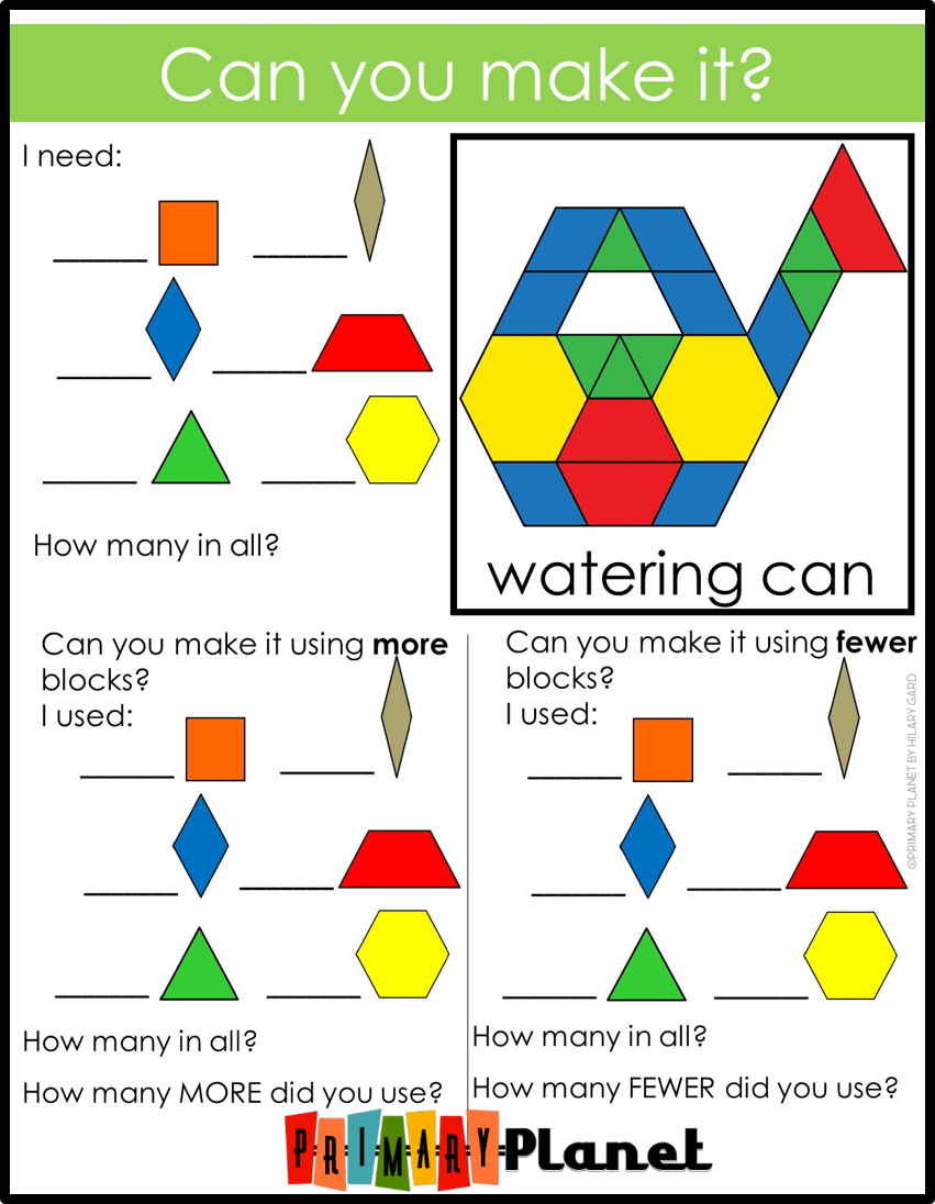 Fun Spring Teaching Ideas to keep your students engaged this Spring!  Spring Pattern Block Mats!