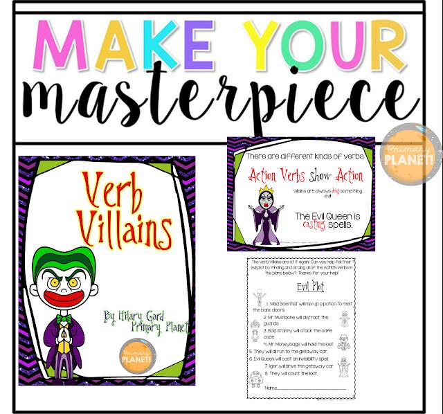 Verb worksheets, verb games, verb posters, verb printables
