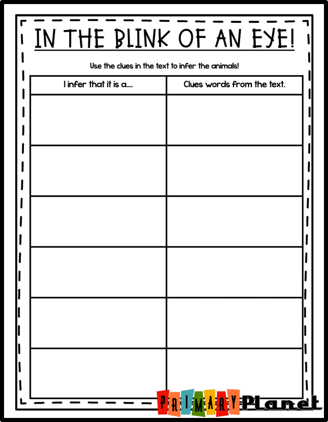 Mentor Text for Making Inferences, or Inferring with a freebie!